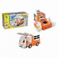 China B/O Bump and Go Assembling Ambulance Toys, Made of ABS Material, 0.1CBM on sale