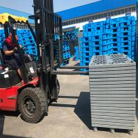 1200*1000*140mm Single Faced Plastic Pallet Heavy Duty Durable Euro Mesh Nine Feet Manufactures