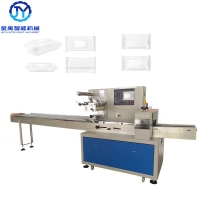 China PID Wet Tissue Alcohol 2.8KW SUS304 Flow Packing Machine on sale