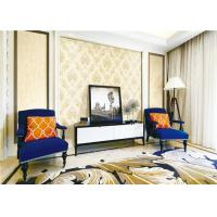 Interior Room Classic Vintage Wallpaper Wet Embossing With Water Based Ink Manufactures