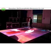 P8.928 full color customised interactive led floor tile screen, interactive dance floor without moire effec Manufactures