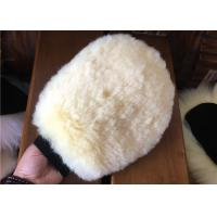 Durable Real Sheepskin Car Wash Mitt 100% Wool For Cleaning Plastic / Metal Surface Manufactures