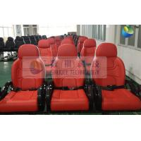 Red Color Motion Theater Chair , With Air And Water Effects Manufactures