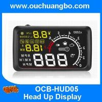 Ouchuangbo 5.5 inch car HUD OBD head up display speed water temperature rotate BT function Manufactures