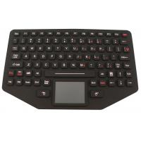 China Easy Operation Silicone Rubber Keypad With Stainless Steel Mounting Panel on sale