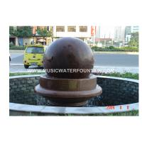 Feng Shui Ball / Rolling Ball  Garden Stone Water Fountains  For Indoor Or Outdoor Manufactures