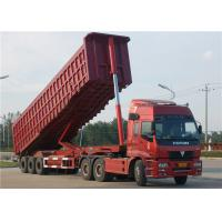 Tri-Axle Dump Truck Trailer 40 Tons- 60 Tons 35M3 End Tipper Semi Trailer For Mineral Manufactures