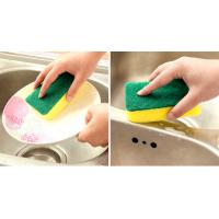 Eco Friendly Dish Washing Sponge 10x7x3cm Size Not Easy To Drop Crumbs Manufactures