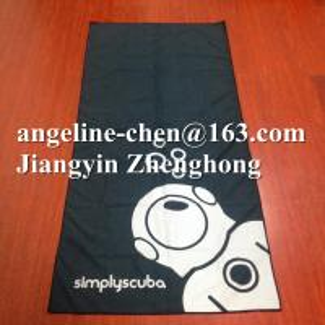 China Super soft printed microfiber suede sports beach towels on sale