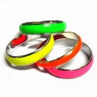 Alloy Bangles with Colorful Enamel, Latest Unique Style, Suitable for Gifts/Decorations/Promotions Manufactures