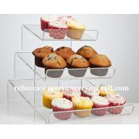 China Customized 3 Tier Transparent PMMA / Perspex Acrylic Cup Cake Display Stand on sale