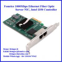 10/100/1000Mbps 2xRJ45 Connector Gigabit Ethernet Server NIC, Intel I350 Chipset Manufactures