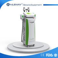 RF+ Vacuum+cavitation+cryolipo cryolipolysis fat freeze machine two handles work together Manufactures