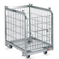 Quality Foldable Wire Mesh Containers With Powder Coating Surface For Material Storage for sale