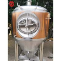 Conical Beer Fermentation Tank With Cooling Jacket Thermal Insulation Material Manufactures
