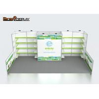 340G Tension Fabric Trade Show Booth Custom Design With Plastic Slatwall Panels Manufactures