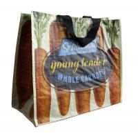 Graffiti PP Woven Shopping Bags Flower Pattern Matt Finish For Grocery Manufactures
