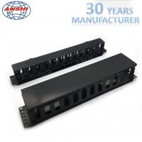 China Plastic Networking Horizontal Cable Manager 19 Inch 2u 12 Ports Rack Mount on sale