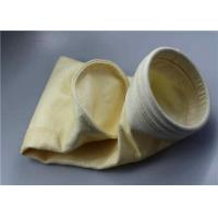 China Coal Powder Dust Collector Filter Bags , Acrylic Micron Filter Bags Evenly Mixed Protective Layer on sale