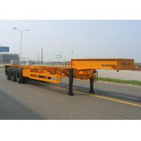 Steel Material Low Bed Container Trailer Heavy Duty 40-60 Ton Low Flatbed Trailer Manufactures