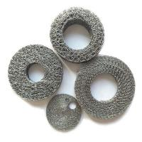 Stainless Steel Wire Mesh Filter Disc , Compressed Knitted Mesh Filter Manufactures