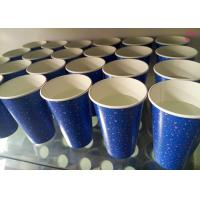 PE Coated Top Rim 80mm 12oz Cold Paper Cups For Milkshake Juice Ice Manufactures