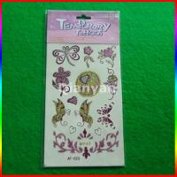 butterfly and flower glitter powder tattoo, glitter temporary tattoo sticker Manufactures