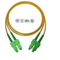 Single Mode SC Fibre Optic Patch Cords APC , Full Duplex Fiber Optic Cable Manufactures
