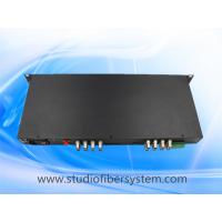 Buy cheap 5mp 16 port CVI to fiber converter with rs485/422/232 ptz data in 1U rack mount from wholesalers