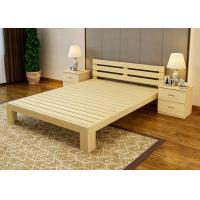 Quality Economic Family Oak Double Bed Frame , Solid Cherry Full Size Wood Bed Frame for sale