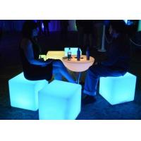 Plastic Illuminated Bar Counter Rechargeable Colorful Led Lighting Ottoman Cube Chair Manufactures