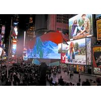 P10 SMD3535 , 90 degree angled , front maintenance outdoor commercial advertising led display Manufactures