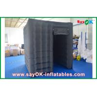 China Black Waterproof Cube Photo Booth Inflatable 1 Door Curtain For Event on sale