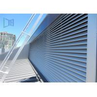 Architectural Hurricane Aluminium Extruded Windows Powder Coated Fixed Louver Manufactures