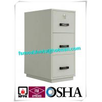 Metal Locking Fireproof File Cabinet Three Drawer 1 Hour Fire Rating Manufactures