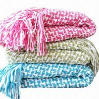 Woven Throws, Weighs 835g, Made of Polyester Manufactures