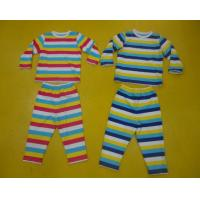 Comfy Multi Striped Kids Pajama Sets , Toddler Boys Winter Pajamas Private Label Manufactures