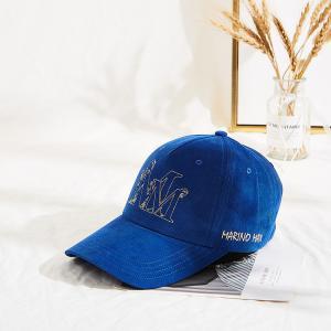 Customized Corduroy Winter Flat Embroidery Logo Baseball Cap Manufactures