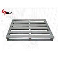 China Stackable 4 -  Way Entry Metal Steel Pallet Cold Galvanized Surface Finish on sale