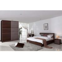 Luxury Hotel Particleboard Melamine Bedroom Furniture With Night Stand Manufactures