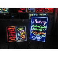 Remote Control LED Writing Boards 50cm X 70cm High Brightness Tempered Glass Manufactures