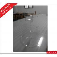 14×9 Inch Clear Acrylic Display Stands On Round Shade With 4 Tiers Manufactures