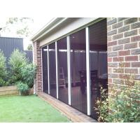 Trackless pleated mesh door with aluminum alloy frame and plated fly screens Manufactures