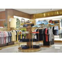 Quality Adult Men Apparel Store Display Cases Wood Plus Grained Veneer Material for sale