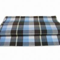 100% Cotton Yard Check Fabric with Easy Care Finish, Available in Width of 57 or 58-inch Manufactures