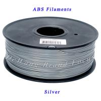 Professional silver abs filament / abs 3d printing filament in plastic rods Manufactures