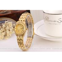 Forsining Gold Womens Wrist Watches Bracelet , Gold Dial Case Manufactures
