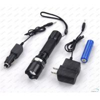 Quality Rechargeable 180Lm CREE Q5 LED Flashlight Torch with Li-ion Battery for sale