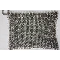 6*8 Inch Stainless Steel  Cast Iron Skillet Cleaner Chainmail Scrubber For Cast Iron Pan Manufactures