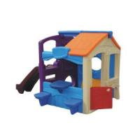 Interesting Playground Kids Plastic House with Slide (VS3-818) Manufactures